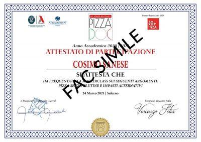 Attestato impasti alternativi - Accademia Nazionale Pizza DOC
