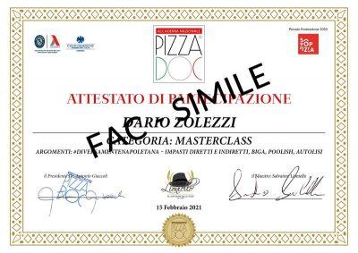 Attestato Accademia Nazionale Pizza DOC - Lioniello