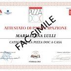 Attestato La pizza in teglia a casa con Gabriele Bonci - Accademia Nazionale Pizza DOC