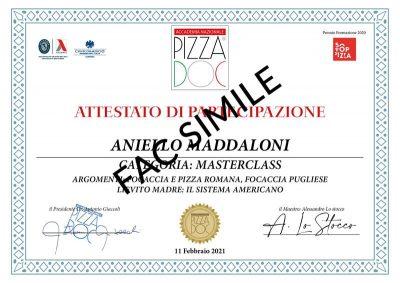 Attestato - Lo Stocco - Accademia Nazionale Pizza DOC