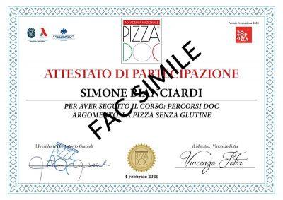 Attestato Pizza Senza Glutine - Accademia Nazionale Pizza DOC